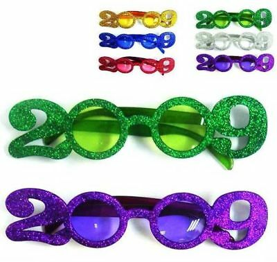 1 pair PARTY 2009 GLASSES new years novelties supplies year eye glass 09 new fun