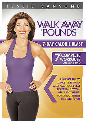 Leslie Sansone: Walk Away the Pounds - 7-Day Calorie Blast (DVD, 2012)  - NEW!!