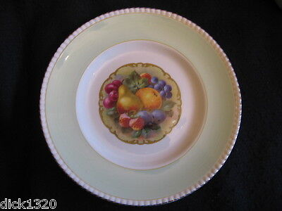 "ART DECO SOHO POTTERY 'FRUIT CENTRE' 9"" LUNCHEON PLATE c.1930's EX"