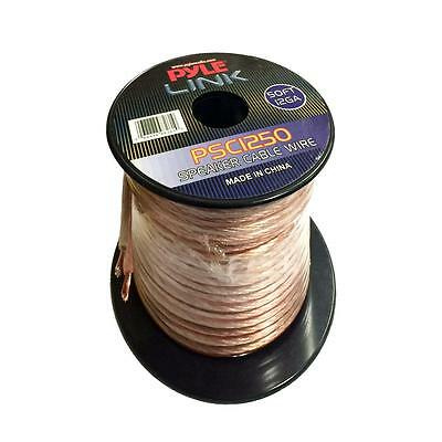 New Pyle PSC1250 50 ft.12 Gauge Spool High Quality Audio Speaker Zip Wire