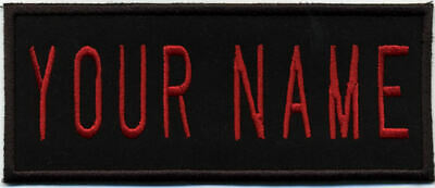 """Custom Iron On Ghostbusters 2 Style Embroidered Name Tag Patch - """"YOUR NAME"""""""