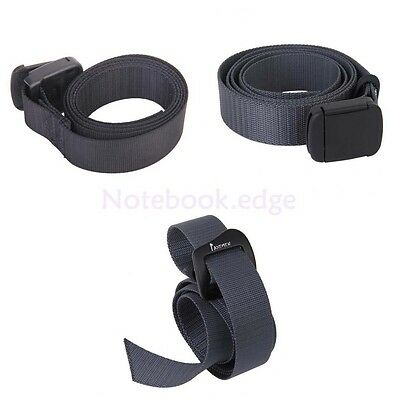 Durable Unisex Outdoor Survival Belt Webbing Waist Belt Waistband Strap Buckle