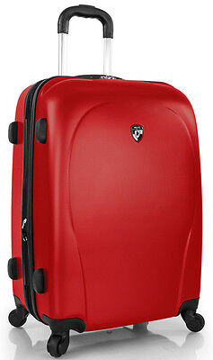 """Heys America xCase 21"""" Spinner 4 Wheeled Carry On Luggage - Red"""