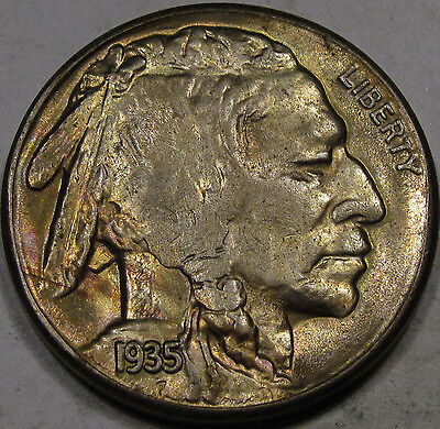 1935-S Buffalo Nickel Gem BU MS++... a Better Date with Nice Color! Great Coin!!