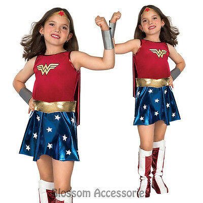 CK169 Wonder Woman Deluxe Super Hero Fancy Dress Girl Book Week Child Costume