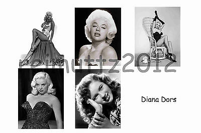 Diana Dors - Set Of 5 Large Photo Prints