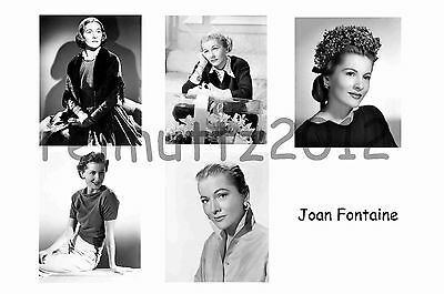 Joan Fontaine - Set Of 5 Large Photo Prints