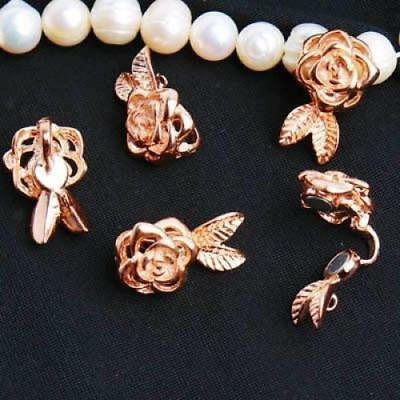 1pc Gold Carved Rose Flower Magnetic Special Clasp Buckle Hook for DIY Craft New