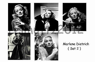 Marlene Dietrich - Set Of 5 Large Photo Prints # 2