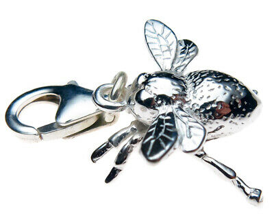 Sterling 925 British Silver Queen Bee Clip On Pendant Charm by Welded Bliss