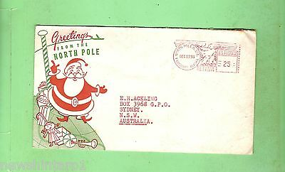 #d6. 1955 Sent Cover For Christmas, Air Mail North Pole To Sydney