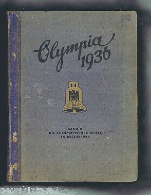 #yy. Original 1936  Berlin  Olympic Book Ii - German Language, Light Cover