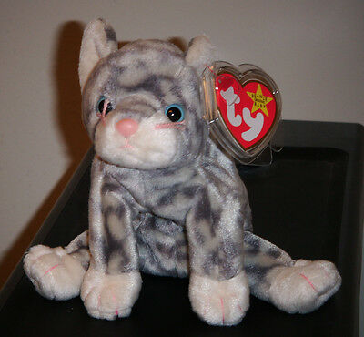 Ty Beanie Baby ~ SILVER the Cat ~ MINT ~  RETIRED