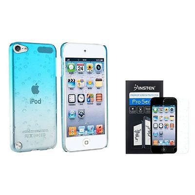 Clear Sky Blue Waterdrop Hard Case+2x Diamond Film For iPod touch 6th 5 5G 5th