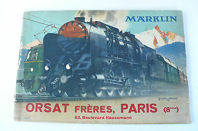 RARE CATALOGUE TRAINS MARKLIN  1938/39  BON ÉTAT  30X20 cm  64 PAGES EN FRANÇAIS