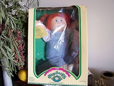 VTG 1985 NEW Cabbage Patch Girl Doll,Red Braids,Gillina Madeline,With Teeth