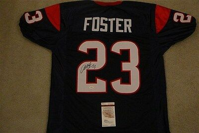 ARIAN FOSTER SIGNED AUTO HOUSTON TEXANS JERSEY JSA AUTOGRAPHED