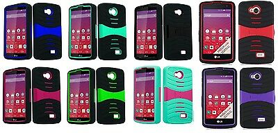 Hybrid Armor Cover Case for LG Optimus F60 MS395 D390 D392 D390N Phone Accessory