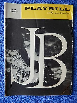 J.B. - ANTA Theatre Playbill - January 1959 - Pat Hingle - Christopher Plummer