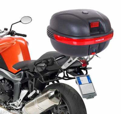 HOMCOM 35L Detachable Scooter Motorcycle Luggage Trunk Top Case