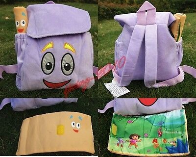 DORA THE EXPLORER! MR. FACE WITH MAP! SOFT PLUSH BACKPACK! Cute Kids Backpag!