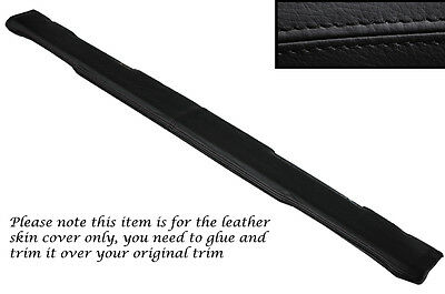 Black Stitch Top Dash Dashboard Leather Skin Covers Fits Land Rover Series 3