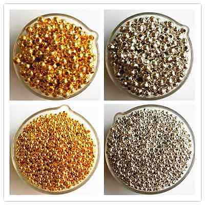 Gold & Silver Plated Alloy Space Loose Beads Charms Accessories 3 4 5 6 mm