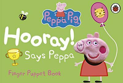Peppa Pig: Hooray! Says Peppa Finger Puppet Book by Ladybird Book The Cheap Fast