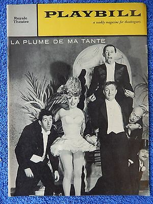 La Plume De Ma Tante - Royale Theatre Playbill - May 23rd, 1960 - Robert Dhery