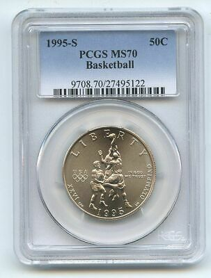 1995 S 50C Olympic Basketball Commemorative PCGS MS70