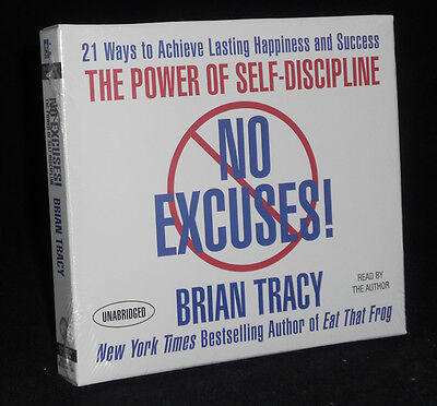 New 7 CD No Excuses : The Power of Self Discipline Brian Tracy