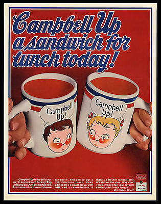 "Original 1969 ""campbell Up!"" Campbell's Soup Print Ad"