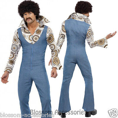 1970's Groovy Dancer Fancy Dress 1690s 70s Party Retro Disco Hippie Mens Costume