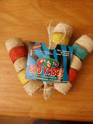 Chiquito Bird Kabob Shreddable Toys Small Parrot Biodegradable Soft Yucca Wood