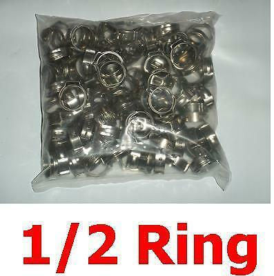 100 pieces - 1/2 inch SS Pex Crimping Cinch Clamps rings