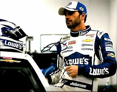 2014 Jimmie Johnson 6x TIME CHAMPION LOWES RACING NASCAR Signed 8x10 Photo #3