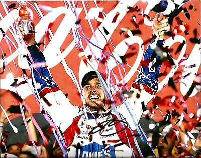 2014 Jimmie Johnson 6x TIME CHAMPION LOWES RACING NASCAR Signed 8x10 Photo #5