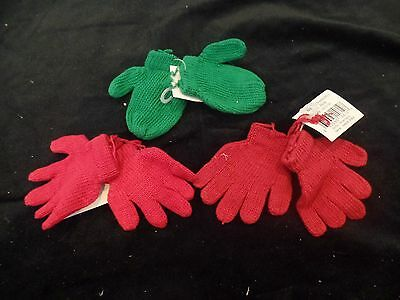 Mitten set: Red & Green Decorate Dolls, Bear making Supplies  Holiday Christmas