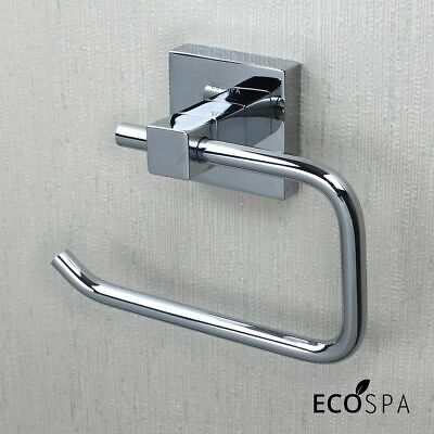 Bathroom Accessory | Modern Wall Mounted Strong Square Toilet Roll Holder Chrome