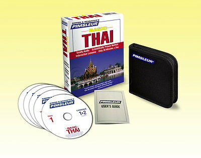 NEW 5 CD Pimsleur Learn to Speak Basic Thai Language
