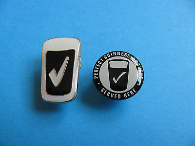 2, Guinness Draught Served Here Pin badges. VGC. Unused.