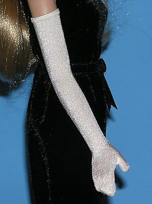 FM Jackie Kennedy white opera length doll GLOVES fit 15-16in fashion dolls bride