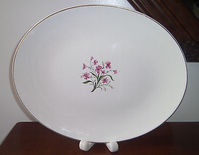Vintage EDWIN KNOWLES Spring Song Large Oval Platter with Gold Trim EUC from EST