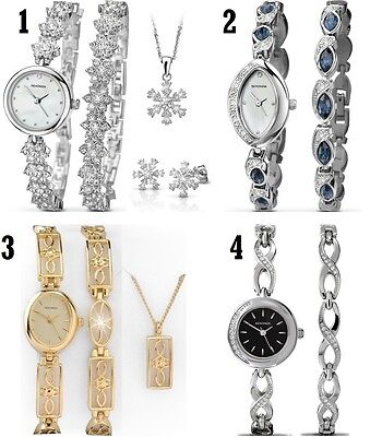 Sekonda The Christmas Set Ladies Watch Gift Set and More with Bracelet & Pendant