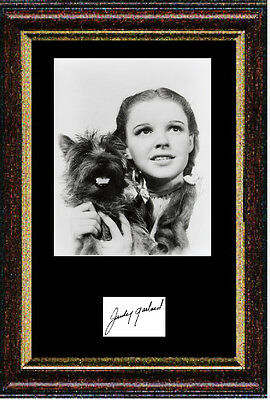 Reproduced autograph Wizard of Oz Judy Garland Framed & Mounted 12x16inch