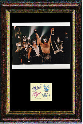 Reproduced autograph by KISS - professionally Mounted & Framed 12x16 inch