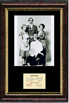 Reproduced autograph CLEESE signed Fawlty Towers item - Framed 12x16 inch
