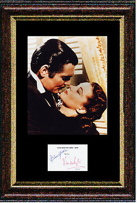 Reproduced autograph by Gable & Leigh - GONE WITH THE WIND - Framed 12x16 inch