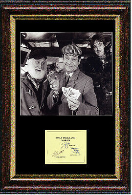 Reproduced autograph by Only Fools and Horses - David Jason Framed 12x16 inch