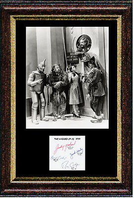 Reproduced autograph from Wizard of Oz - Framed 12x16